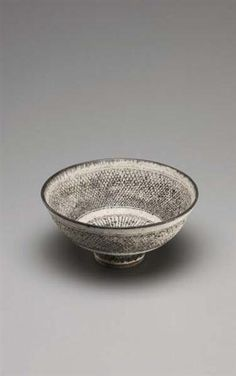 Rare 'Knitted' bowl, c. 1976, LUCIE RIE