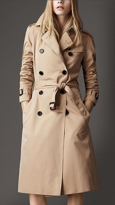 Burberry - Long Cotton Gabardine Trench Coat-I want a new one..mine's so old, but in too good a shape to replace.