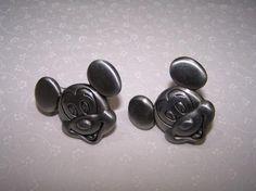 Nice Disney Mickey Drawer Pulls, Knobs, Handles Pewter Finish Metal Set Of 2