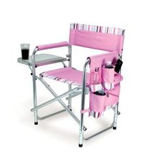 Amazon.com: Picnic Time Sports Chair Pink With Stripes: Patio, Lawn & Garden