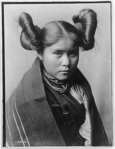 Native American Edward Curtis Hopi Woman by griffinlb, via Flickr