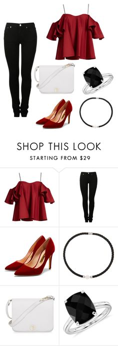 """""""REaDdy."""" by just-lea on Polyvore featuring Anna October, MM6 Maison Margiela, Rupert Sanderson, DaVonna, Furla, Blue Nile, contest, red and 2016"""
