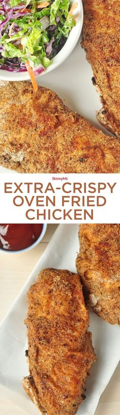 In this recipe, you can achieve the same crisp and crunch of southern-style fried chicken without nearly as much oil.