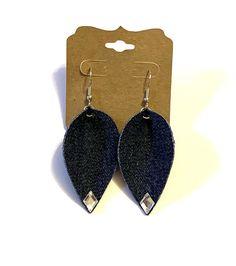 Excited to share this item from my #etsy shop: Dark blue jean denim fabric folded teardrop earrings boho hippie rhinestone denim jewelry lightweight unique handmade gift casual leaf#dark#blue#jean#denim#fabric#folded#teardrop#leaf#earrings#boho#hippie#lightweight#unique#rhinestone#casual#handmade#homemade#denimjewelry Denim Earrings, Fabric Earrings, Leaf Earrings, Teardrop Earrings, Boho Earrings, Dark Blue Jeans, Stainless Steel Earrings, Denim Fabric, Boho Hippie