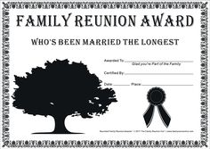family reunion ideas | Family Reunion Certificates - Hope Tree 23 is a Free Family Reunion ...