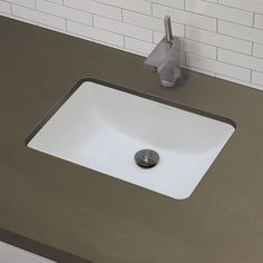 """DecoLav 1402 21-1/4"""" Undermount Bathroom Sink with Overflow White Fixture Lavatory Sink Vitreous China"""