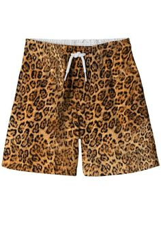 Adding a roar to the riviera with these cheetah print shorts. See matching swimsuits and bikinis for sisters. Swimwear Uk, Boys Swimwear, Cheetah Shorts, Padded Swimsuits, Boys Swim Trunks, Girls Bathing Suits, Swim Shorts, Print Shorts, Cheetah Print