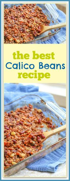 This Calico Beans Recipe is so delicious. It is the perfect side dish to any backyard party or cook out. It makes a lovely addition to hotdogs, hamburgers, and pulled pork.