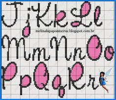 Boa tarde Meninas!!!   Mais monogramas em ponto cruz!!!                                                                                     ...