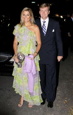 Dutch Prince Willem-Alexander and Princess Maxima attends the wedding of Bernardo Guillermo and Eva Prinz-Valdes in Brooklyn, New york, 4 Sep 2009