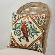 Originally designed as part of a panel by Grace Christie (1872–1953) in 1914, the first teacher of embroidery at the Royal College of Art, English Summer Bird is an Edwardian love letter to the English countryside.🐦