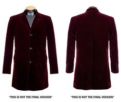 Official Abbyshot Twelfth Doctor's Red Velvet Coat – Merchandise Guide - The Doctor Who Site