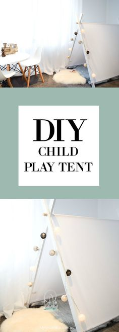 How sweet is this white and dowel timber kids play tent? Perfect for a unisex or Scandinavian style nursery, it's easy to make and doesn't require any sewing! Check out all the step by step instructions and full product list on the blog by clicking the image above!