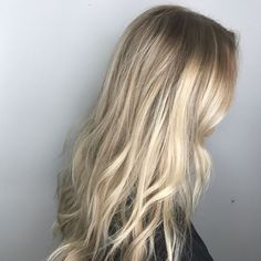 Leah usually has straight ^ blonde all over, but she let me do my thing and this is what the end result turned out like. I did a full highlight with lowlights mixed in, to break up the solidarity of the blonde. Then I went in with a base melt to soften th
