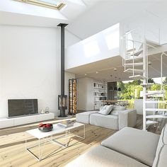 Proiecte gratis,Proiecte Case Parter Bungalow, Home Living Room, House Plans, New Homes, Dining Table, Loft, Lounge, Cottage, House Design
