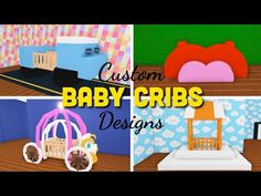 Simple Bedroom Design, Baby Room Design, My Home Design, Baby Room Ideas Early Years, Unique Baby Cribs, Baby Crib Designs, Baby Room Decals, Sims 4, Pet Hotel