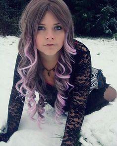 Hair chalk # hair #fashion #hairchalk #purplehair #purpleombre #ombre