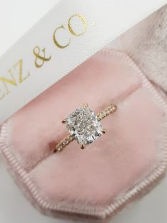 Radiant Cut Engagement Rings, Cushion Cut Engagement Ring, Dream Engagement Rings, Rose Gold Engagement Ring, Engagement Ring Styles, Cushion Cut Diamond Ring, Cushion Cut Halo, Cushion Cut Diamonds, Tablescapes
