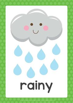 Display weather elements and the different seasons in your childs room or day care with our printable A4 sized posters.  You will receive 17