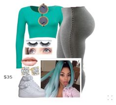 """""""✨"""" by newtrillvibes ❤ liked on Polyvore featuring LASplash, NIKE, women's clothing, women, female, woman, misses and juniors"""
