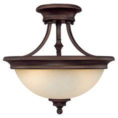 Capital Lighting Belmont 2 Light Semi Flush Mount & Reviews   Wayfair