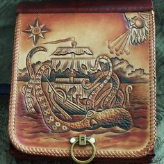 "bjornstar: "" steampunktendencies: "" Leather Work by Simon Norris "" Looks like I need a new bag. """