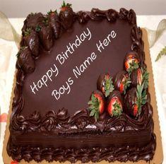 Lamborghini Car Birthday Cake For Boy Name Write Pictures Chocolate Birthday Cake Decoration, Happy Birthday Chocolate Cake, Birthday Chocolates, Birthday Cake Decorating, Chocolate Cake Pictures, Big Chocolate, Chocolate Strawberry Cake, Chocolate Cakes, Chocolate Strawberries