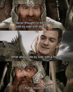 Legolas and Gimli.