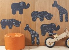 Animal chalkboard decals what a fun addition to a kids playroom or bedroom!