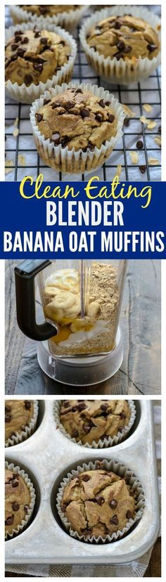 Clean Eating Banana Oatmeal Muffins. NO butter, sugar, or oil, and they taste amazing. This is the best healthy banana muffin recipe. Kids love them and they are gluten free! | www.wellplated.com @wellplated