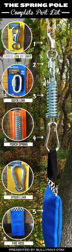 Step by step instructions with a tutorial video on how to build a spring pole for your dog. Best practices, tips on where to mount the spring pole, and more