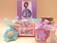 Princesa Sofia fiesta. Detalles de gominolas.