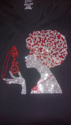 DST Afro Chick Rhinestone Sparkle T Shirt on Etsy