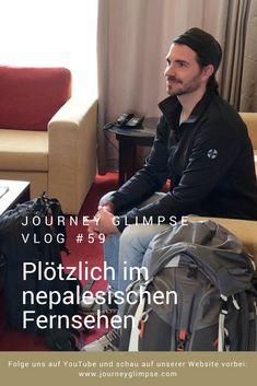 Was für eine Überraschung! Eben waren wir noch in Kathmandu im Spital und schon ist das nepalesische Fernsehen bei uns im Hotel. Das Kamerateam dreht einen Clip über uns, für die spätere Live Sendung, bei der wir als Gäste auftreten werden - bei Kantipur TV. Nepal, Journey, Youtube, Live, Fictional Characters, View Tv, Fantasy Characters