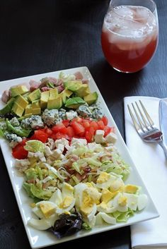 Turkey and Ham Cobb Salad - omit cheese for Whole 30