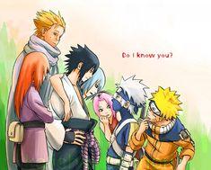 Team Taka Vs. Younger Team Kakashi Sasuke, Suigetsu, Jugo, Karin, Naruto, Sakura, Kakashi