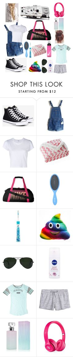 """""""Road Trip"""" by bellabear285 ❤ liked on Polyvore featuring Converse, RE/DONE, Lala + Bash, NIKE, Philips, Ray-Ban, Nivea, Life is good, Calvin Klein and Beats by Dr. Dre"""