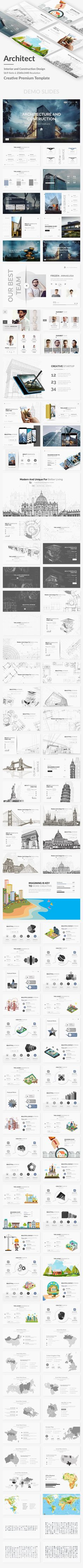 #Architecture #Interior and #Construction Design Google Slide Template - Google Slides Presentation Templates