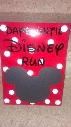 Disney Marathon Countdown by WordArtTreasures on Etsy, $15.00