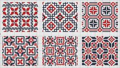 All over patterns for cros stitch or knitting.