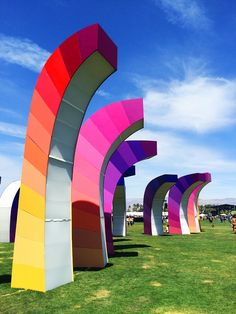 We always love taking in the spectrum of art installations at Coachella. Chrono Chromatic by Aphididae. | H&M Loves Coachella