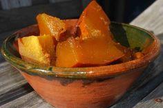 Calabaza en Tacha- Sweet candied pumpkin, typical Mexican dish for Day of the Dead (Dia de los Muertos)