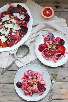 Fennel, blood orange, beet, mint and pistachios salad — Life under a lemon tree
