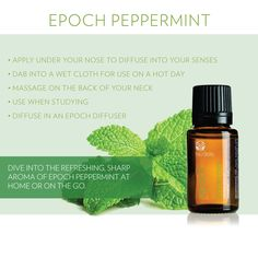 Epoch Peppermint Essential Oils.  #epochessentialoils #teamepoch for distributing opportunity or sign up as a preferred customer sign up on www.nuskin.com using sponsoring ID #US00480697