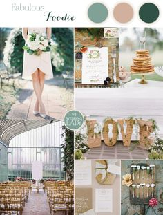 Fabulous Foodie Wedding Inspiration with Botanical Details in Frost Green and Taupe | See More! http://heyweddinglady.com/foodie-wedding-inspiration-with-botanical-details/