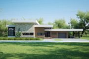Modern style home designed by Arch L.A.B., elevation