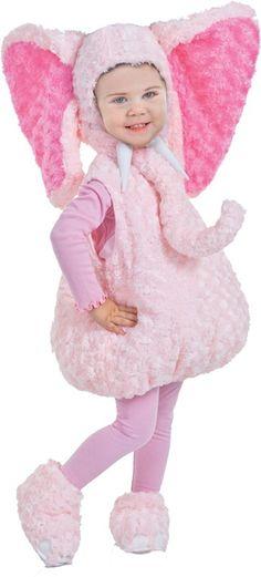 Kostium dziecięcy SŁOŃ różowy 18-24 m-cy