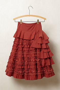 Such a fun skirt! Add a white ruffle puffy sleeved peasant top and flat sandals, you'd look like a Flamenco dancer!