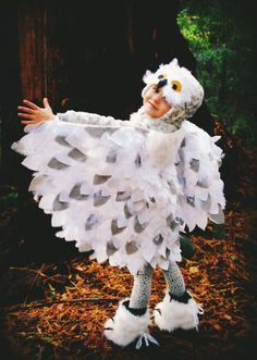 No sew Snowy Owl Costume DIY - My fav costume EVER!: