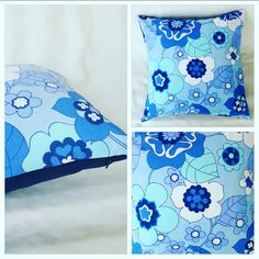 Cushion cover in vintage retro fabric